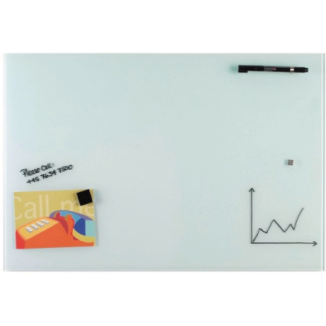 magnetisch glaskrijtbord 40x60cm wit 820803 neutraal. Black Bedroom Furniture Sets. Home Design Ideas
