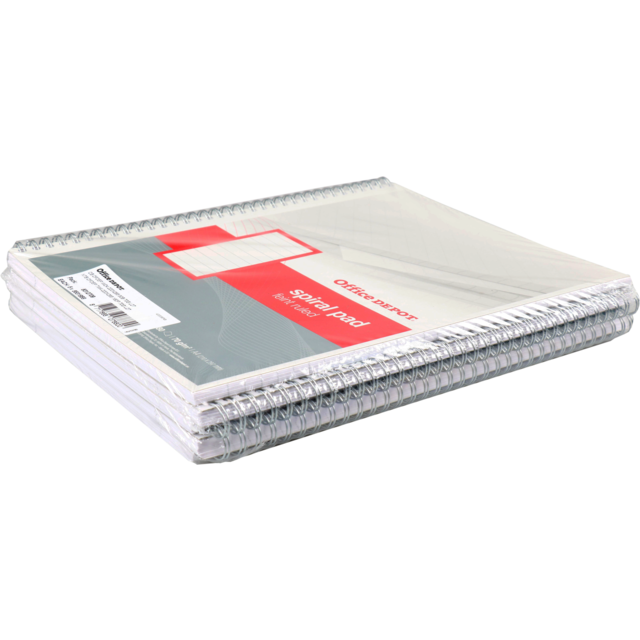 Office Depot Notebook, Paper, Lined, with spiral binding, A4, 210x297mm,  1