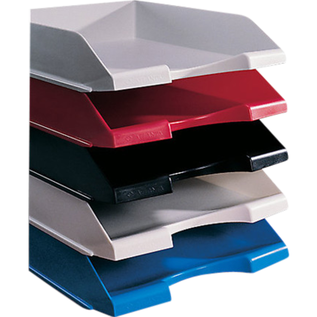 Letter tray, Plastic, 210x297mm, blue 1