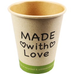 Tasse à café, Made with Love, Kraft, 250ml, 8oz,