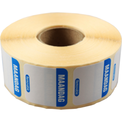 FoodSecure® Label, Paper,25x25mm, blue.