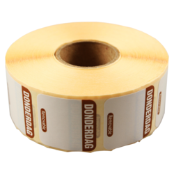 FoodSecure® Label, Paper,25x25mm, brown.