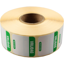 FoodSecure® Label, Paper,25x25mm, green.