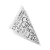 Conical bag, Paper, x17cm, words,