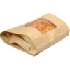 Bread and pastry bag, Paper+kst, 21/10x42cm, brown