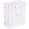 Bag, Art paper, deluxe bag with cord, 22x10x29cm, carrier bag, white