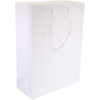 Bag, Art paper, deluxe bag with cord, 27x12x37cm, carrier bag, white