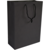 Bag, Art paper, deluxe bag with cord, 27x12x37cm, carrier bag, black