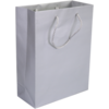 Bag, Art paper, deluxe bag with cord, 22x10x29cm, carrier bag, silver