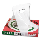 Bag, HDPE, 22x97cm, pizza/cake box carrier, white