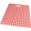 Bag, Small checks, LDPE, dKT, 25x36cm, bodemvouw 4cm, carrier bag, red