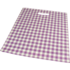 Bag, small checks, LDPE, dKT, 38x44cm, bodemvouw 4cm, carrier bag, mauve