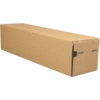 Tube, Cardboard, square , 105x105x435mm, brown