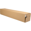 Tube, Cardboard, square , 105x105x610mm, brown