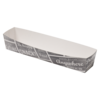 Container, Cardboard and coating, frankfurter container, 185x33x35mm, white/Grey
