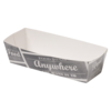 Container, Cardboard and coating, sausage container, 105x33x30mm, white/Grey