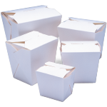 Container, Cardboard, 460ml, asian meal container, 76x57x83mm, white