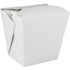 Container, Cardboard, 920ml, asian meal container, 86x67x108mm, white