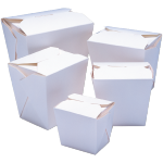 Container, Cardboard, 750ml, asian meal container, 79x67x101mm, white