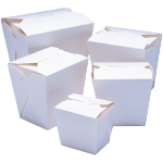 Container, Cardboard, 920ml, asian meal container, 86x67x108mm, wit