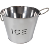 Ice bucket, Metal, Design:  Ice, 18.5x23.5cm.