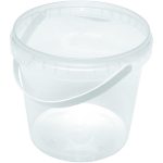 Container, PP, 1000ml, With bracket, with lid, transparent