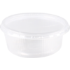 Container, PP, 150ml, Ø101mm, ripple cup, transparent