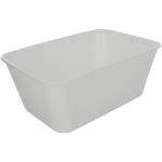 Container, PP, 1000ml, kilo container, 174x120x69mm, wit