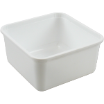 Container, PS, 2000ml, salad container, 180x180x91mm, white
