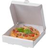 Pizza box, Cardboard, 85x85x20mm, Mini´s, wit