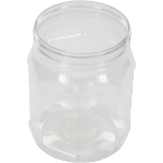 Bottle, pET bottle, PET, round octagonal jar, clear, 380ml, transparent