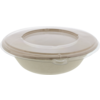 Container, Bagasse, 1000cc, salad container, natural