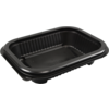 Container, PP, 250ml, menu container, 159x127x33mm, black