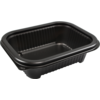 Container, PP, 375ml, menu container, 159x127x44mm, black