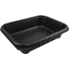Container, PP, 1000ml, menu container, 227x177x49mm, black