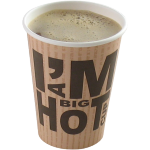 I'M a Concept, Beker, I'M a big HOT cup, Karton en coating, 350ml, 12oz, 110mm,  wit
