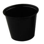 Container, PP, 162ml, Ø76mm, plastic cup, 61mm, black