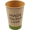 Koffiebeker, Made with Love, Kraft, 180ml,