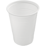 Drinking cup, PS, 180ml, 87mm,  wit