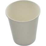 Hot cup beker, Karton en coating, 150ml, 6oz, wit