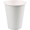 Hot cup, Cardboard and plastic, 300ml, 12oz, white