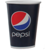 Cold cup, Pepsi, Cardboard and plastic, 300ml, 10oz, 119mm,  blue/Red