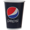 Pepsi, Cold cup, Pepsi, Cardboard and plastic, 500ml, 10oz, 168mm,  blue/Red