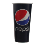 Cold cup, Pepsi, Cardboard, 400ml, 16oz, 128mm,  blue/Red
