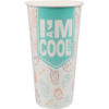I'M a Concept, Milkshake cup, I`M a COOL cup, Cardboard and coating, 500cc, 500ml, 22oz, 164mm,  white
