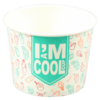 I'M a Concept, Ice-cream tub, I`M a COOL cup, Cardboard and coating, 150cc, 150ml, 6oz, 51mm,  wit
