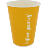 Milkshake cup, Cardboard, 300ml, 10oz, yellow