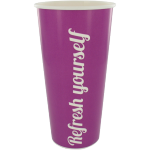 Milkshake cup, Cardboard, 500ml, 20oz, purple