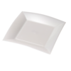 Depa Plate, square ,  pearl, PP, 230x230mm, white