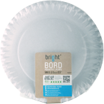 Bright® Plate, round,  1 compartment, Cardboard, Ø230mm, white